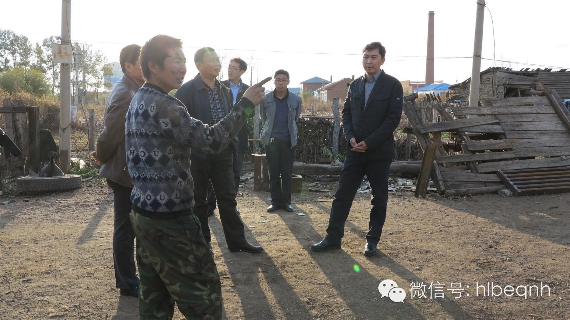 在调研内蒙古自治区呼伦贝尔市鄂伦春自治旗大杨树镇